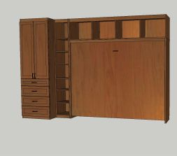 Horizontal MurphyBED Closed