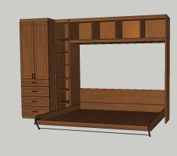 Horizontal MurphyBED Open