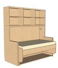 StudyBED™ Twin w/ Top Cabinet