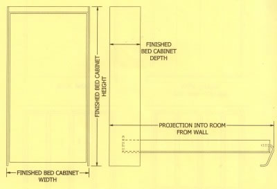Murphy beds of florida murphy bed dimensions vertical bed diagram ccuart Gallery